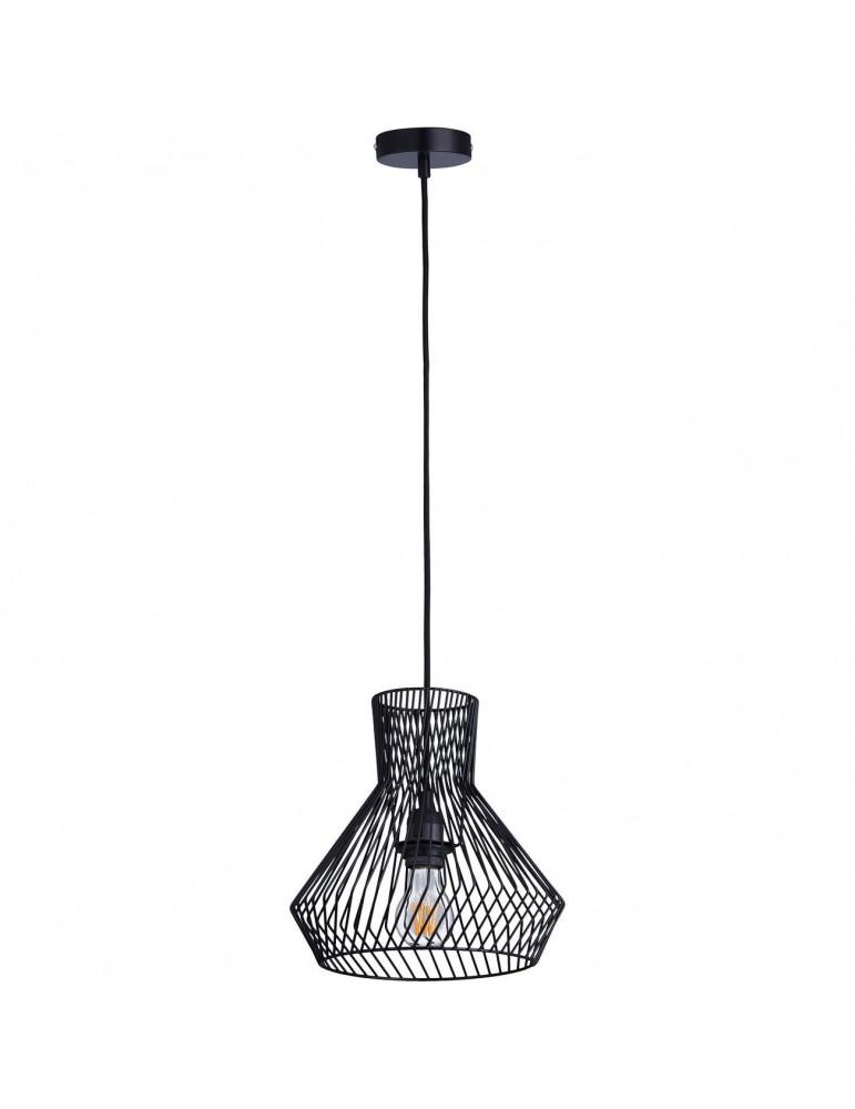 suspension moderne et design en metal facon cage cairn noir 26625NO