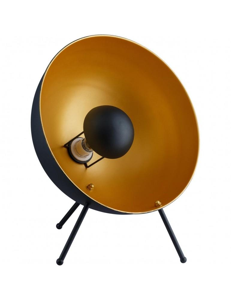 lampadaire projecteur Boll noir et doré 26630NO