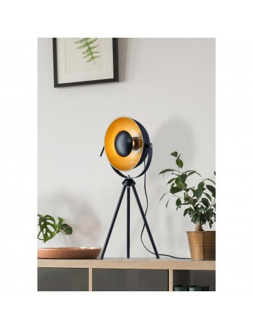 lampe trépied moderne et design chicago noir 26631NO