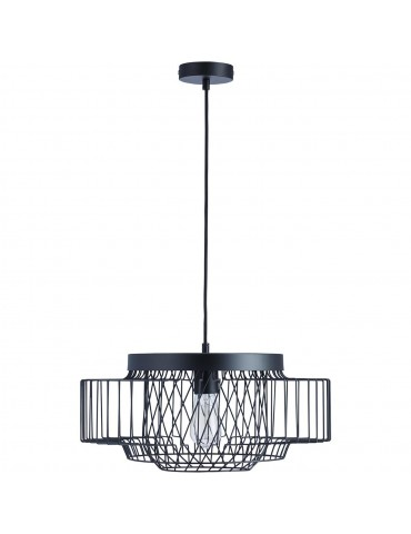 suspension moderne cage lyra noir 26622NO