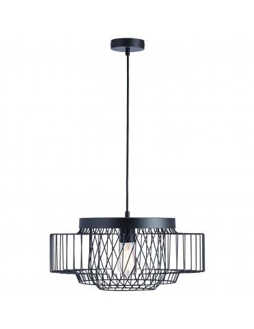 suspension moderne cage lyra noir 26622NO