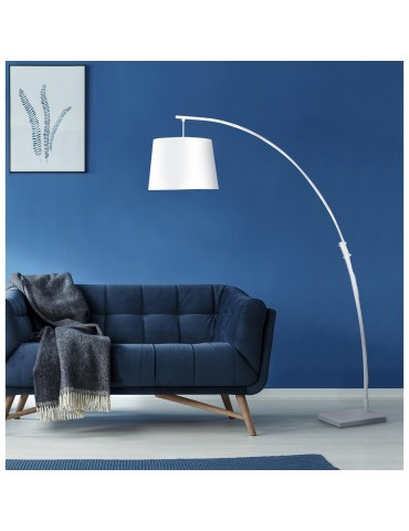 lampadaire arc patrizia blanc 26612BL
