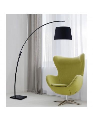 lampadaire arc base en marbre patrizia noir 26612NO