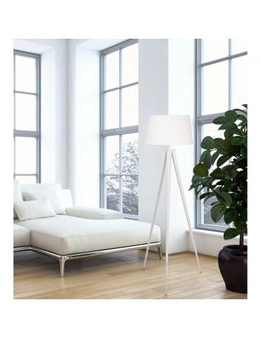 lampadaire trépied renée blanc 26508BL