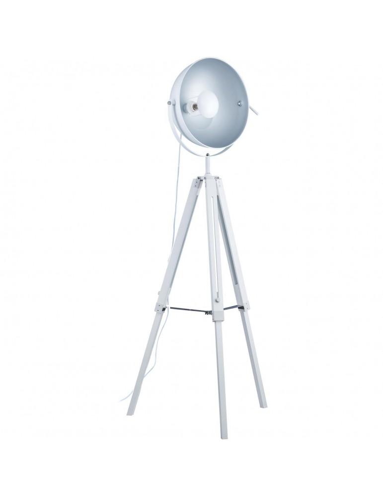 lampadaire trépied design style cinema fjord blanc 26240BL