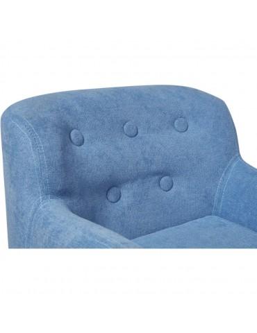 Fauteuil enfant tissu ormond bleu 25115BU
