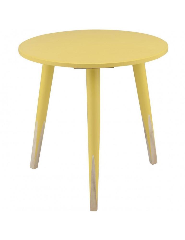 Table appoint scandinave grenadine jaune 13500JA