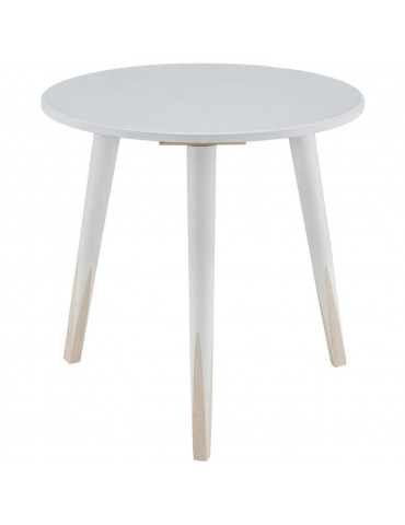 Table appoint scandinave grenadine blanc 13500BL