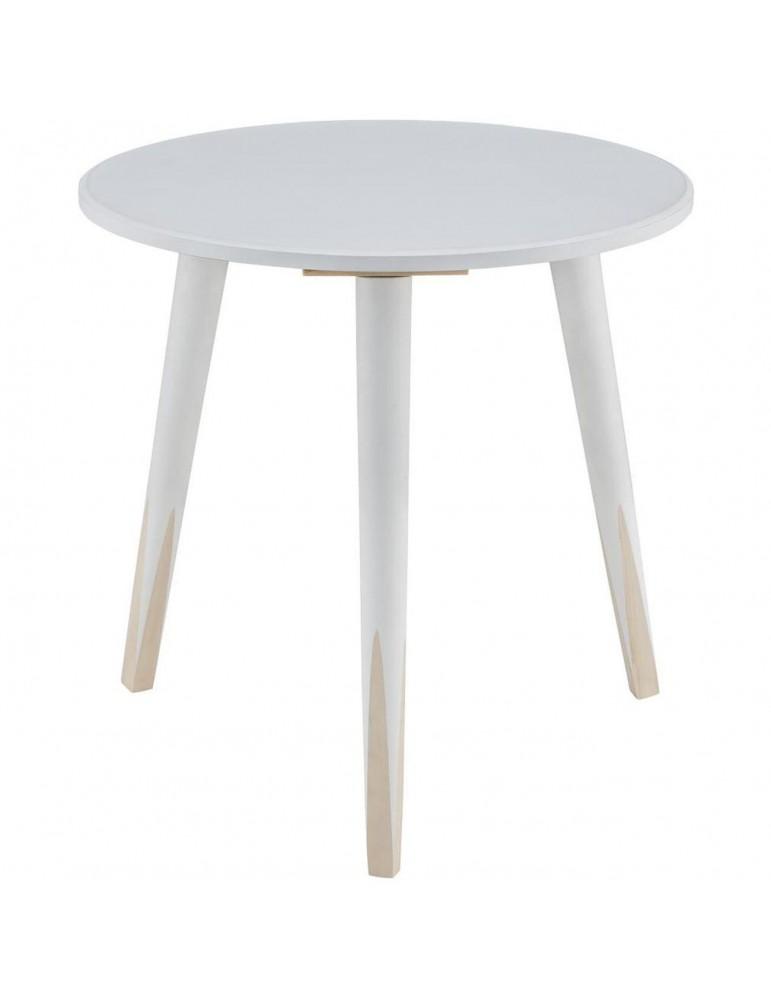 Table appoint scandinave grenadine blanc 13500BL