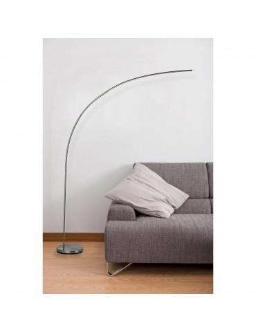 lampadaire en metal LED novak aluminium 26238AL