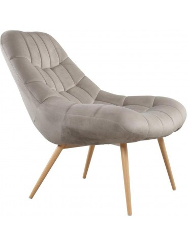 Fauteuil en velours rayit taupe 43116TA