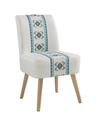 Fauteuil design texan wanda turquoise 13810M1