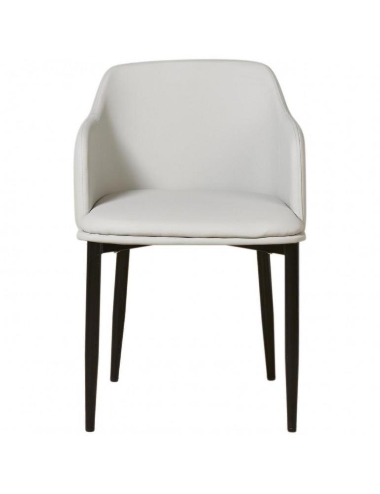 Lot de 2 chaises confortables miranda gris 43114GR