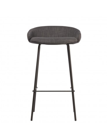 Lot de 2 tabourets de bar irvington gris 74203GR