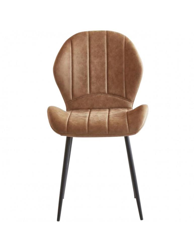 Lot de 4 chaises tissu flynn taupe 58207TA