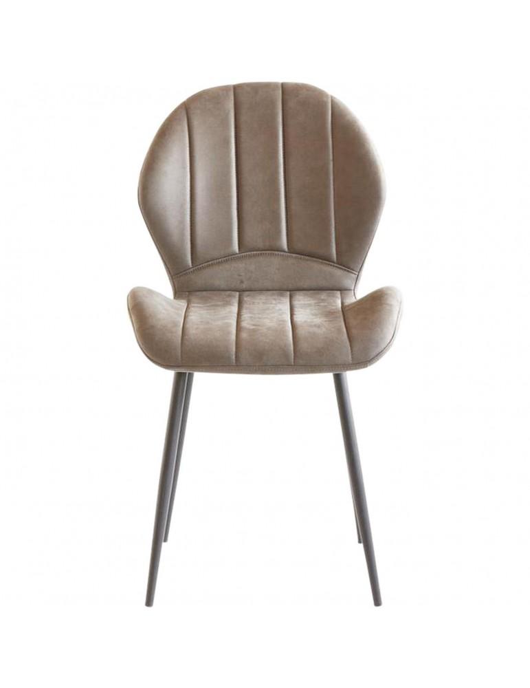 Lot de 4 chaises en tissu flynn gris 58207GR