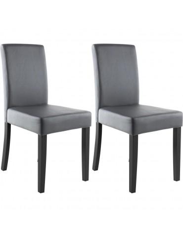 Lots de 2 chaises de sejour elmswell gris 55239GR