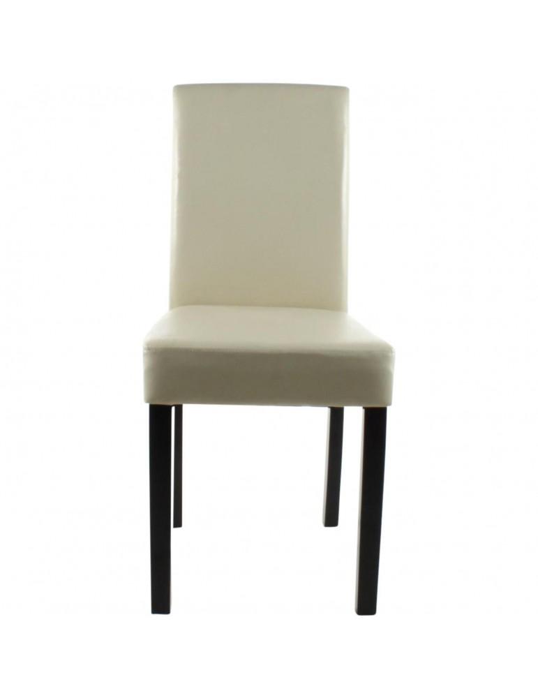 Lots de 2 chaises de sejour elmswell ivoire 55239IV