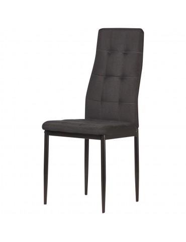 Lot de 4 chaises en lin kendal noir 58205NO