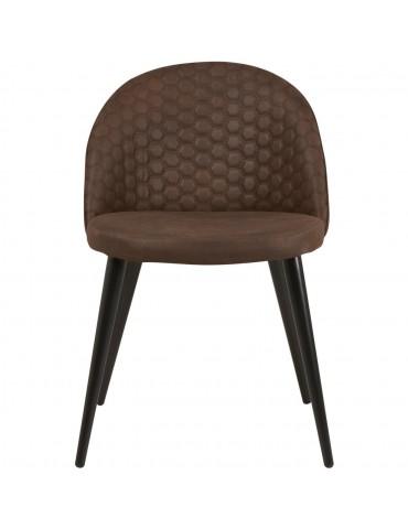 Lot de 2 chaises de sejour catania noir 54409NO