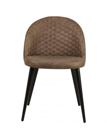 Lot de 2 chaises de sejour catania taupe 54409TA