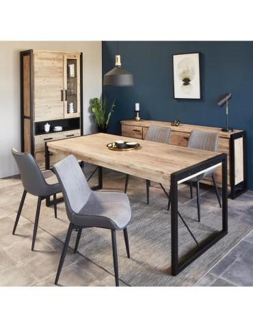 Lot de 4 chaises elegantes mino gris clair et fonce 55127GR