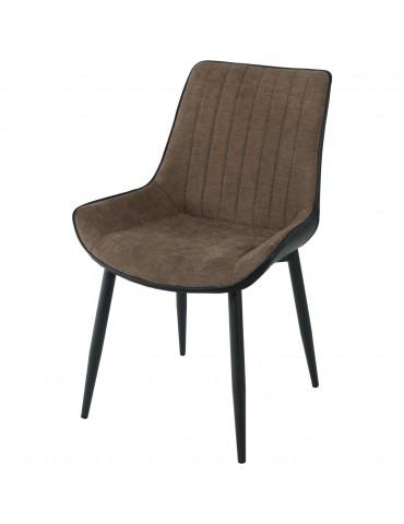 Lot de 4 chaises elegantes mino taupe et noir 55127TN