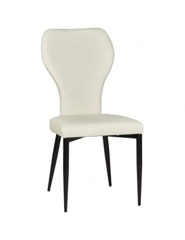 Lot de 2 chaises de sejour harley blanc 52875BL