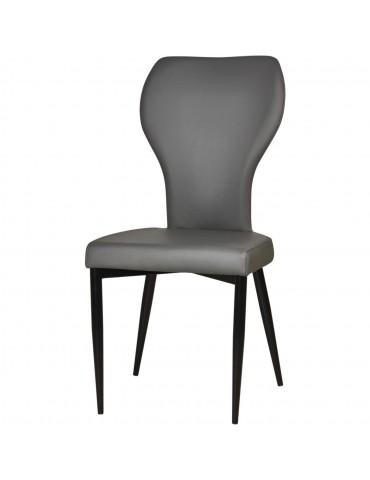 Lot de 2 chaises de sejour harley gris 52875GR