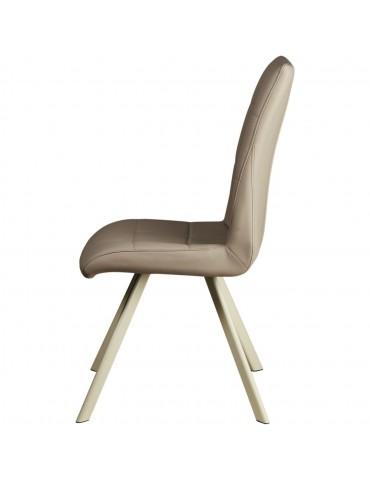 Lot de 2 chaises de salle à manger wisteria taupe 52871TA