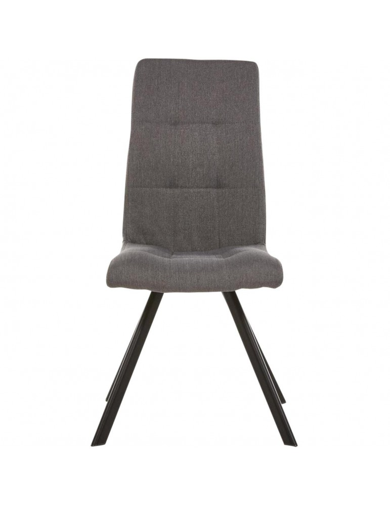 Lot de 2 chaises de salle à manger lule gris 52873GA