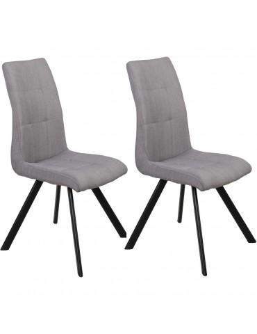Lot de 2 chaises de salle à manger lule gris 52873GR