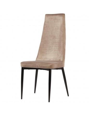 Lot de 4 chaises elegantes adeline taupe 52867TA