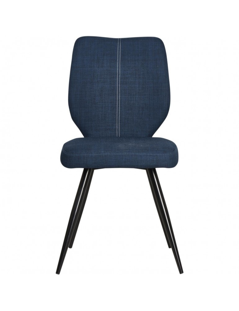 Lot de 2 chaises de salle à manger gigi bleu 52868BU