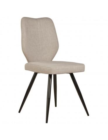 Lot de 2 chaises de salle à manger gigi lin beige 52868LI