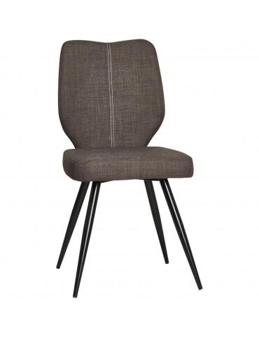 Lot de 2 chaises de salle à manger gigi marron 52868MA
