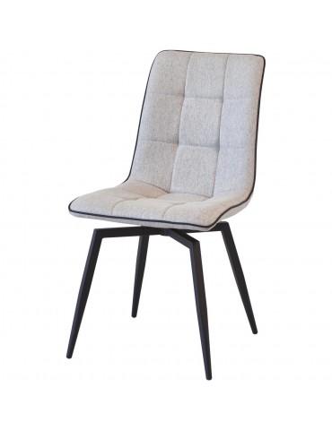 Lot de 4 chaises design geoffrey gris 50325GR