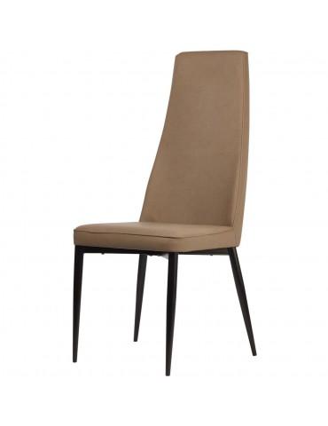 Lot de 4 chaises elegantes loa taupe 52866TA