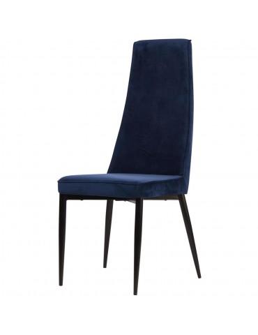 Lot 4 de chaises elegantes adeline bleu 52867BU