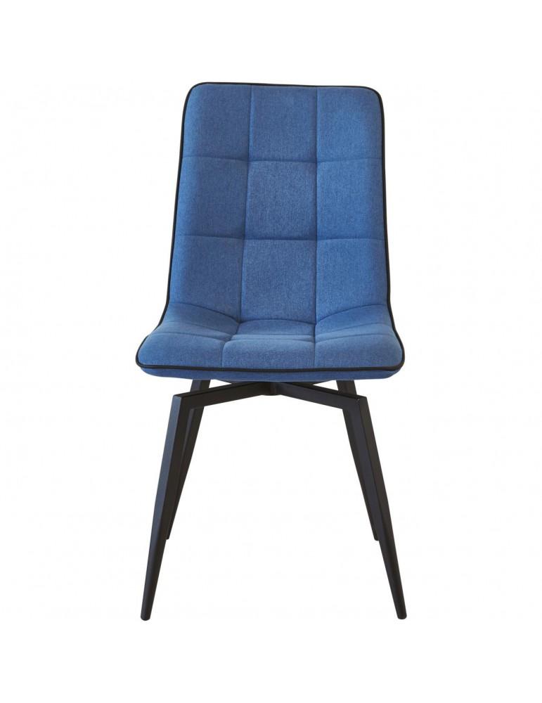 lot 4 chaises design geoffrey bleu nuit 50325BN
