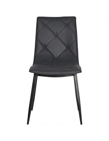 Lot de 4 chaises universal noir 50317NO