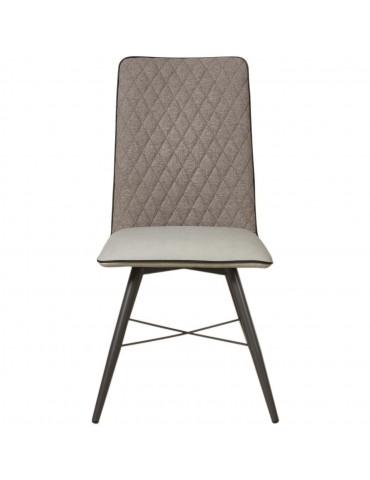 Lot de 4 chaises bi matiere orkney gris 50319GR