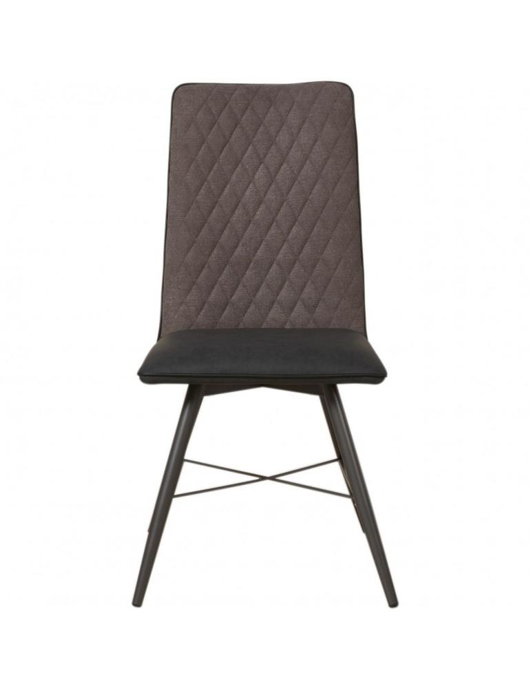 Lot de 4 chaises bi matiere orkney noir 50319NO