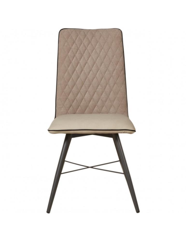 Lot de 4 chaises bi matiere orkney taupe 50319TA