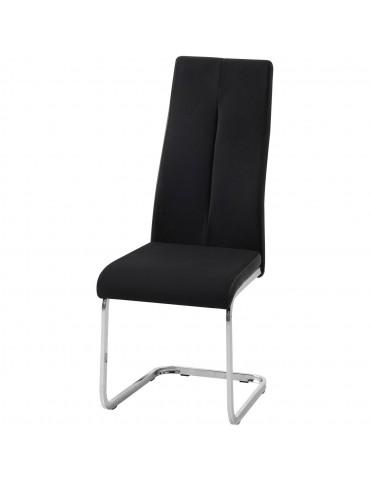 Lot de 4 chaises rinery noir 48610NO