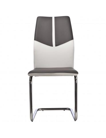 Lot de 4 chaises hydra gris et blanc 50311GB