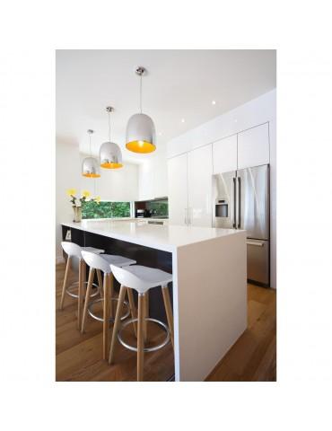 Tabouret de bar moderne cata blanc 47765BL