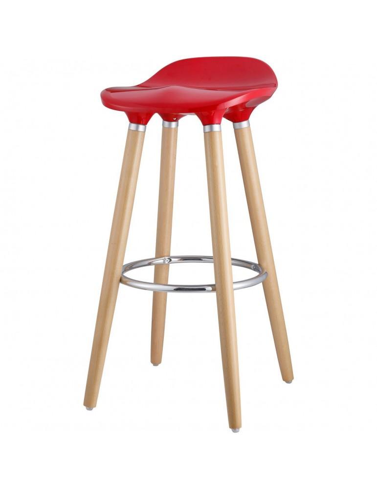 Tabouret de bar moderne cata rouge 47765RO