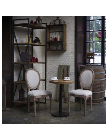 Lot de 2 chaises en lin jak ivoire 47771IV