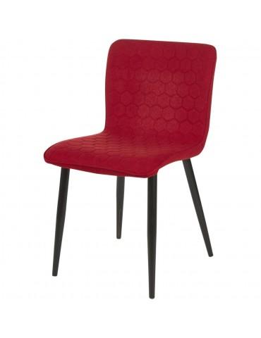 Lot de 4 chaises de sejour design jelly lie de vin 43111LI